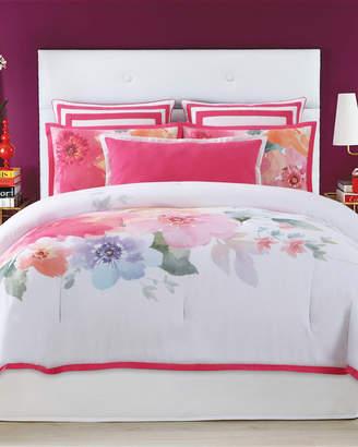 Christian Siriano 3-Piece White Bold Floral Comforter Set