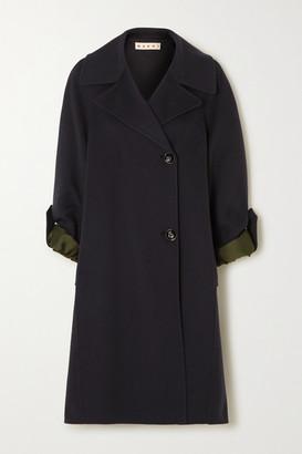 Marni Wool-blend Coat - Navy
