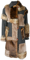 Kolor faux fur patch coat