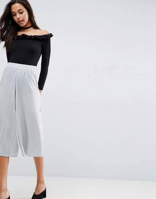 Asos Design Mixed Occasion Culottes with Pleat-Multi