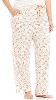 Sleep Sense Plus Striped Fox-Print Sleep Pants