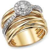 Bloomingdale's Diamond Pavé Multi Band Ring in 14K White and Yellow Gold, .80 ct. t.w. - 100% Exclusive