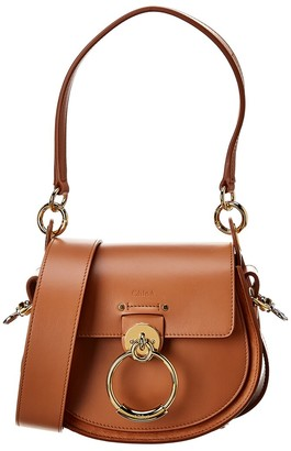 Chloé Tess Small Leather & Suede Shoulder Bag