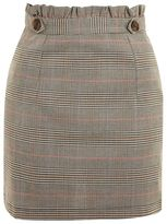 Topshop Heritage checked frill skirt