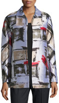 Lafayette 148 New York Campbell Graphic-Print Topper, Neutral