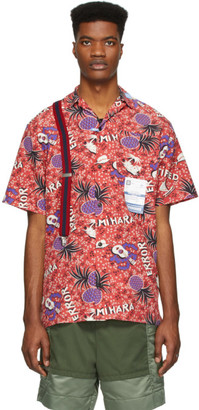 Miharayasuhiro Red Hawaiian Short Sleeve Shirt