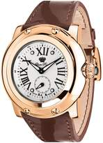 Glam Rock Women's Miami 46mm Brown Leather Band Swiss Quartz Watch Gr10042n