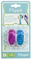 Evriholder FLP-TH-2PK FlippIt Toothbrush Holders, Set of 2, (Colors may vary)