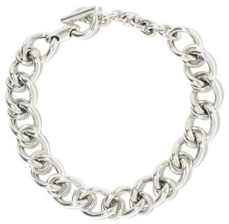 Bottega Veneta Curb-chain Sterling-silver Choker - Silver