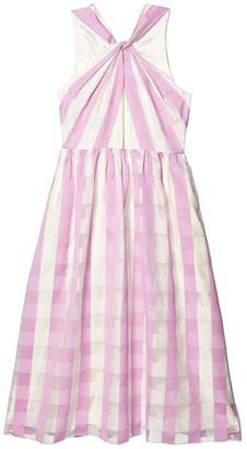 Kate Spade Gingham Organza Dress (Fresh Lilac) Women's Dress