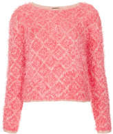 Topshop Knitted Hairy Diamond Jumper