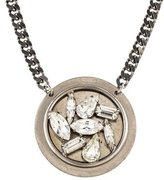 Dannijo Crystal Disc Pendant Necklace