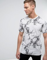 ONLY & SONS T-Shirt with All Over Leaf Print