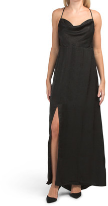 Made In Usa Winslet Maxi Dress With High Slit