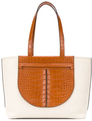 Tod's Leather Panel Tote Bag