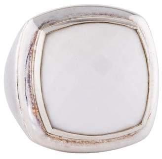 David Yurman White Agate Albion Ring