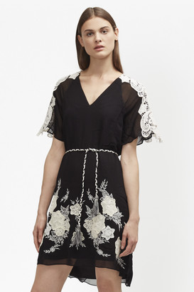 French Connection Kiara Applique Embroidered Dress