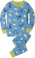 Hatley Little Boys' Organic Cotton Long Sleeve Printed Pajama Set