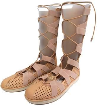 Vionnet Beige Leather Boots