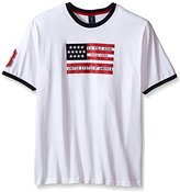 U.S. Polo Assn. Men's Big and Tall Flag Graphic Crew Neck T-Shirt