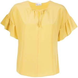 RED Valentino Ruffled Sleeve Blouse
