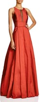 Aidan Mattox Sleeveless Illusion Neck Gown - 100% Bloomingdale's Exclusive