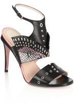 Fendi Rocker Bug Studded Leather Sandals