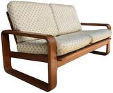 One Kings Lane Vintage 1970s Two Seats Sofa - nihil novi - brown/beige