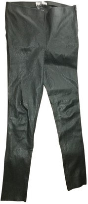 Hallhuber Black Leather Trousers for Women