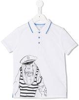 Little Marc Jacobs sea horse polo shirt - kids - Cotton - 4 yrs