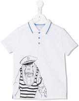 Little Marc Jacobs sea horse polo shirt