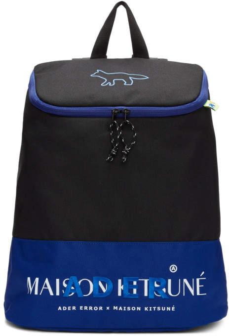 MAISON KITSUNÉ Black ADER error Edition Layout Backpack
