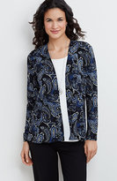 J. Jill Wearever Printed Jacket