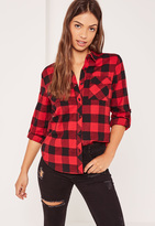 Missguided Petite Exclusive Red Lumberjack Checked Shirt