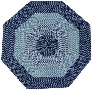 August Grove Vienne Braided Navy Rug Rug Size: Octagonal 6'