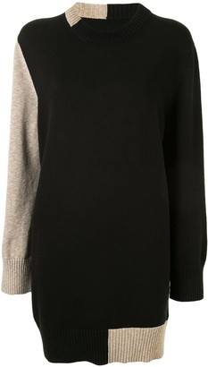 MM6 MAISON MARGIELA Intarsia-Knit Elbow Patch Dress
