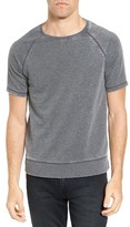 John Varvatos Men's Short Sleeve French Terry Sweatshirt