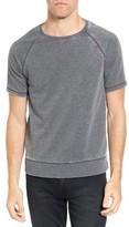 John Varvatos Men's Short Sleeve French Terry Sweatshirt