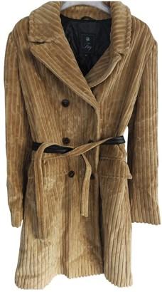 Fay Camel Velvet Coat for Women