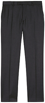 Jaeger Wool Regular Fit Suit Trousers, Charcoal