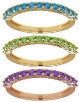 Lord & Taylor Semi-Precious, Multi-Stone Stacking Ring Set
