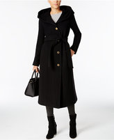 MICHAEL Michael Kors Hooded Wool-Cashmere-Blend Maxi Coat