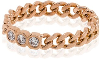 Shay 18kt Rose Gold Chain-Link Diamond Ring