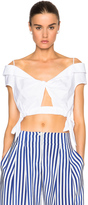 Thakoon Twist Side Crop Top