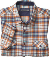 Johnston & Murphy Crinkle Casual Plaid Camp Shirt