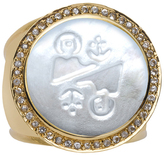 Asha Pave Zodiac Ring, Assorted Colors