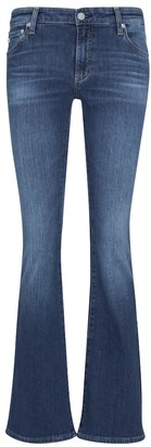 Low-rise bootcut jeans