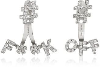 #F**K #Off 18K Gold & 0.59 ctw Diamonds Earrings