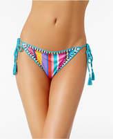 Nanette Lepore Nanette by Sayulita Serape Striped Side-Tie Bikini Briefs, Created for Macy's Women's Swimsuit
