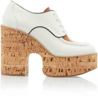 Miu Miu Two-Tone Leather Platform Brogues